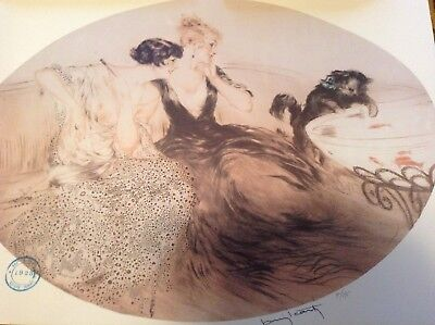 Louis Icart prints signed,numbered,date stamped,raised seal.Limited edition rare