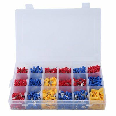 1200Pcs Assorted Insulated Electrical Wire Terminal Crimp Spade Connector Kit MN