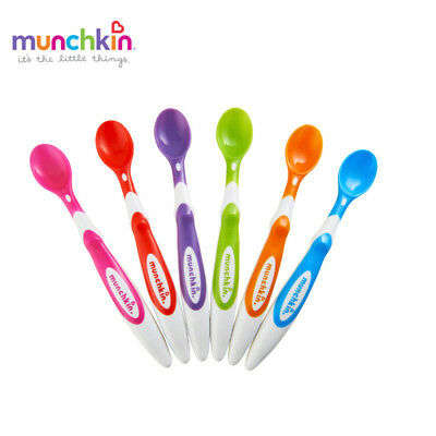 Munchkin Soft-Tip Infant Spoons 6 Count Baby Soft Silicone Feeding BPA free