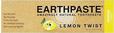 Earthpaste Natural Toothpaste, Redmond Trading Company, 4 oz Lemon Twist