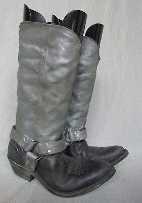 "New Golden Goose Deluxe Brand ""chelsea"" 2 Tone Leather Harness Biker Boots Sz 36"