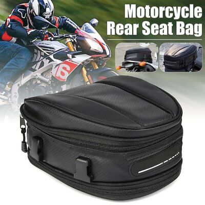 Motorcycle Touring Rear Pillion Seat Tail Tank Bag Luggage Waterproof Bike MN