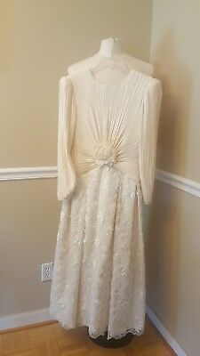 Vintage George F. Couture  Elegant Evening Gown Size 6
