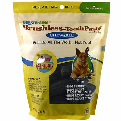Ark Naturals, Breath-Less, Brushless Toothpaste, Chewable, Medium dogs 508 g