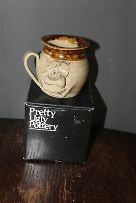 Pretty Ugly Pottery Wales Vintage Funny Face Mug with box
