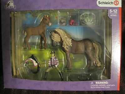 Schleich Horse Club Rider Girl With Icelandic Ponies--New--Unopened