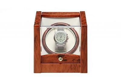 BURL KA079 Watch Winder For Single Automatic Watches Time Tutelary Wooden Effect