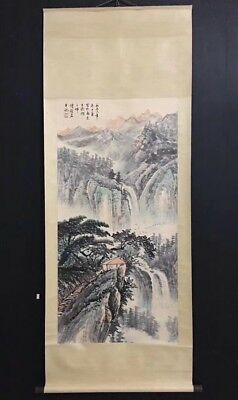 Excellent 100% hand-painted Chinese Painting  Scroll landscape By Fu BaoShi