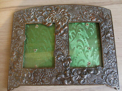 Antique Japanese Mixed Metal Photo Frame Chrysanthemums