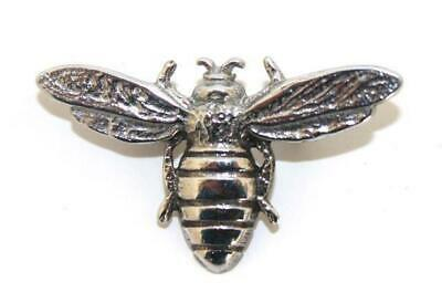 Large Honey Bee Polished Pewter Scarf Sash Plaid Brooch - Made In Scotland