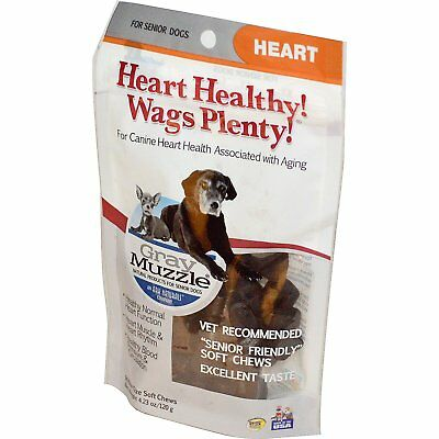 Ark Naturals, Heart Healthy! Wags Plenty!, Gray Muzzle, Heart, 120 g