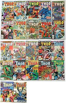The Mighty Thor Marvel Comics Group Comic Book Lot of 22 1980