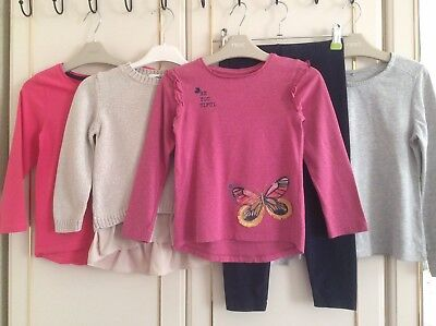 Girls age 5-6 yrs M&S BLUEZOO NUTMEG Sparkly Jumper Tunic Leggings Tops Bundle