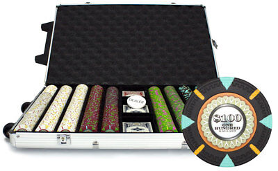 1000 Count Claysmith 'The Mint' Poker Chips Set in Rolling Aluminum Case