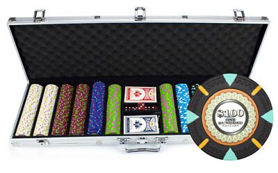 600 Count Claysmith 'The Mint' Poker Chips Set in Aluminum Case
