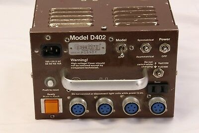 Speedotron D402 400ws Brown line Power Supply  PARTS ONLY
