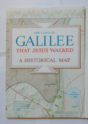 The Land of Galilee That Jesus Walked A Historical Map (1985)