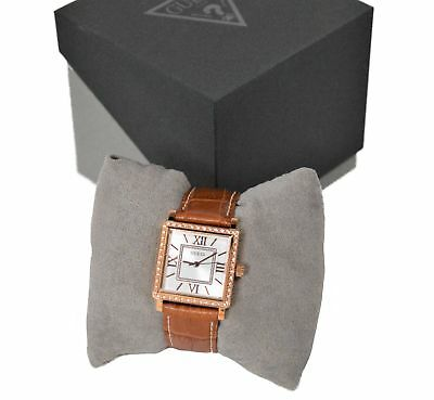 d46beb432 Guess Ladies HIGHLINE Watch - Rose Gold Plated with Leather Strap - W0829L4