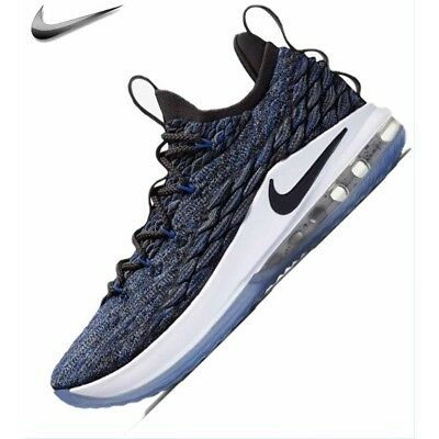low priced 007ed d641e MEN'S NIKE LEBRON 15 Low Basketball Shoes Blue/Thunder Grey AO1755-400 SIZE  10