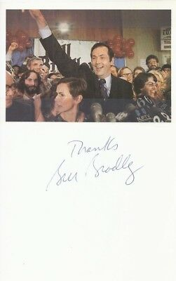 BILL BRADLEY Signed Photograph Autographed 5x8 Cardstock Pic. POLITICIAN COA