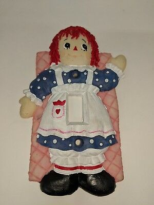 1996 Whimsical Hand Painted Raggedy Ann Switch Plate Light