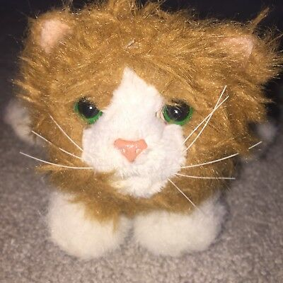 HASBRO 2010 FUR Real Friends Small Brown & White Cat