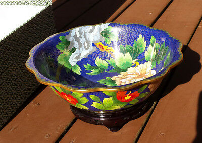 Chinese cloisonne bowl with stand. GREAT GIFT!