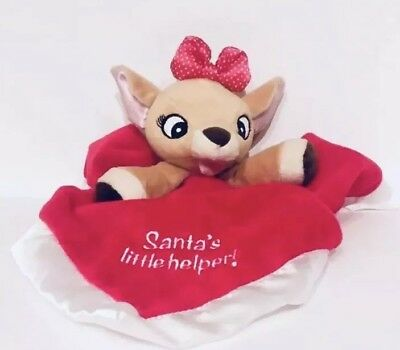 87372e9ec8 Rudolph The Red Nosed Reindeer Clarice Baby Blanket Lovey Christmas Plush