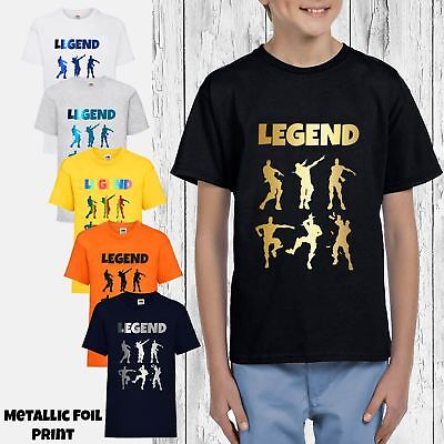 8c2e9915 Kids Legend Celebrations T-Shirt Childrens Gaming Dance Dab Floss Xmas Tee  Gift