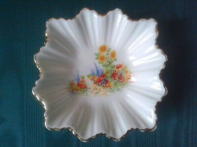China Pin Dish Flowers Cottage Garden Made in England
