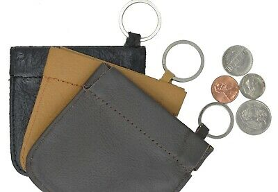LEATHER Squeeze Facile Frame COIN CHANGE Pouch Purse Wallet Handmade NEW