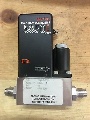 Brooks Instruments 5800 Series 5850E Mass Flow Controller Gas: N2 Range: 30 Sccm