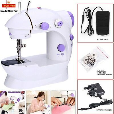 Mini Portable Hand-held Clothes Sewing Machine Home Travel LED Electric DIY UK