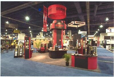 20 x 20  Nimlok Custom Trade Show Exhibit Booth Display + crates and lights