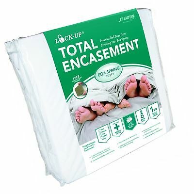 JT Eaton 80QUBOX Lock-Up Total Encasement Bed Bug Protection for Queen Size B...