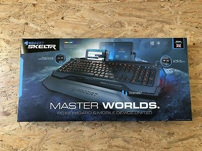 ROCCAT Skeltr Black Smart Communication RGB Gaming Keyboard QWERTY US Layout
