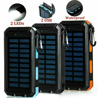 50000mAh USB LED Battery Charger Portable Mobile Solar Power Bank Fr Cell Phone