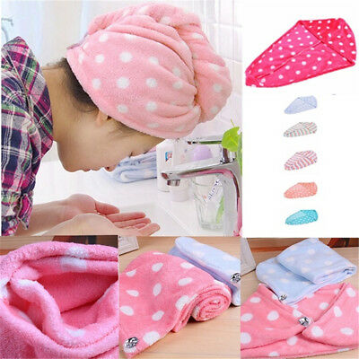Wash Tool Salon Product Button Shower Cap Bathing Wrapped Towel Dry Hair Hats