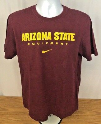 Men's Clothing Nike Fit Dry Mens Arizona Sun Devils Button Front Shirt Size L Short Sleeve Red