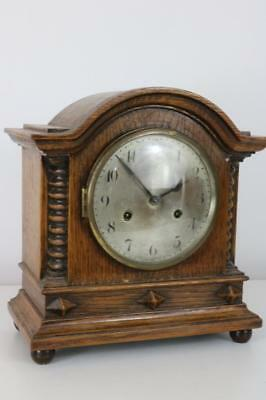 ANTIQUE OAK MANTEL CLOCK by JUNGHANS needs service