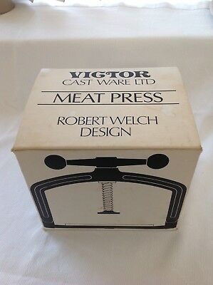 Vintage Victor Robert Welch Cast Iron Meat Press Boxed