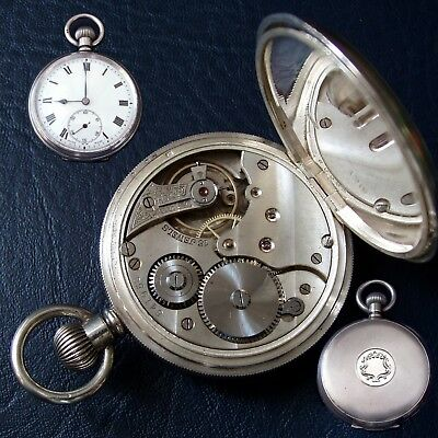 1919 Antique / Vintage solid silver pocket watch / fob watch. Working well