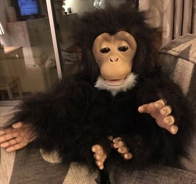Fur Real Friends Cuddle Chimp Chimpanzee Monkey Interactive Pet Toy Some Damage