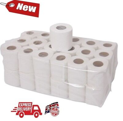 144 TOILET ROLLS 2 PLY 21m 200 SHEET TISSUE LUXURY QUILTED PAPER 4 CASES JUMBO