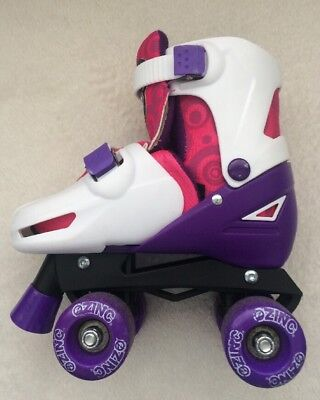 Girls Roller skates. Size Junior 13-3 shoe size. Zinc adjustable Quad
