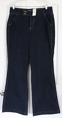 NEW Lane Bryant Tighter Tummy Technology Sz 14 Blue Flare Jeans NWT Ret. $69.95