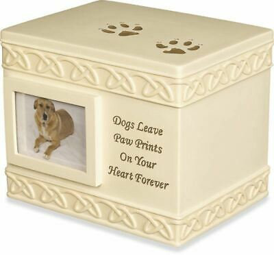 Dogs leave Paw Prints on your heart forever Photo Cremation Urn 49555