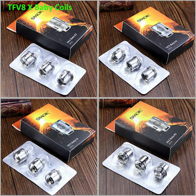 SMOK TFV8 X BABY COILS (3PACK) T6 Q2 X4 M2 X BABY COILS V8 Xbaby coil atomizer