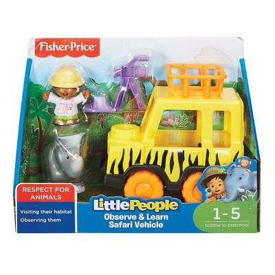 NEW Fisher-Price Little People Observe & Learn Safari Vehicle