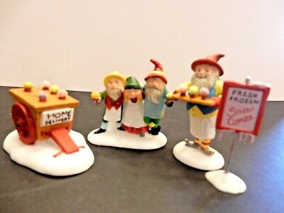 "Dept. 56 Heritage Village North Pole  ""snow Cone Elves""    Euc"